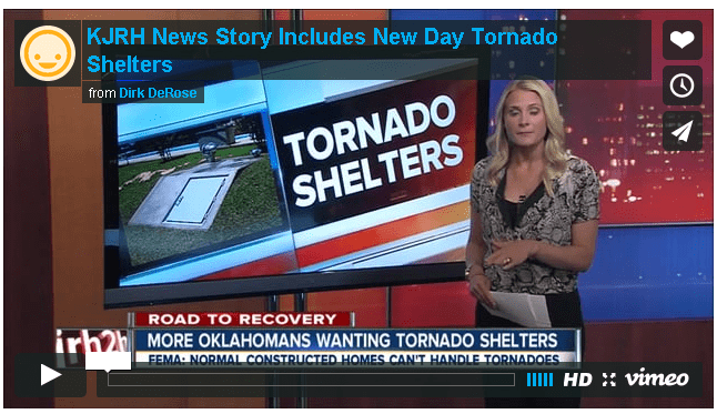 Tulsa's Channel 2 story includes New Day Tornado Shelter