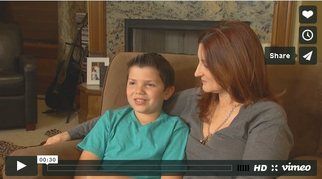 This mother and son now have a safe place to go when tornadoes threaten the city.